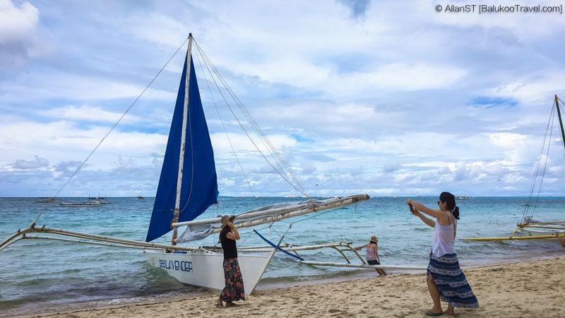 Traditional Filipino Paraw sailboat, Boracay (Philippines) @Sep2017