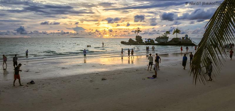 Sunset at Station 1, White Beach, Boracay (Philippines) @Sep2017