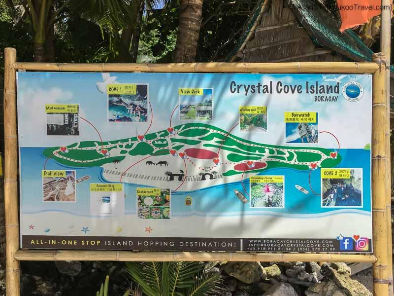 Map of Crystal Cove Island, Boracay (Philippines) @Sep2017