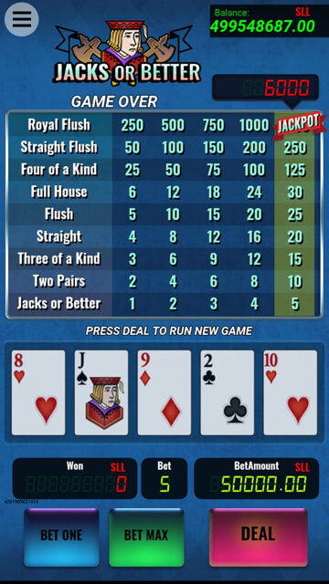Video Poker : Jacks Or Better | Balutagames