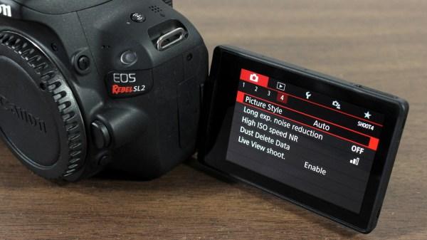 Canon EOS Rebel SL2 / EOS 200D DSLR Camera LCD Display