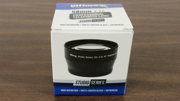 Ultimaxx 55mm 2.2x Professional Telephoto Lens Box