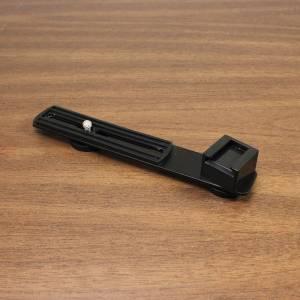 Camera hot shoe light or flash off set bracket top