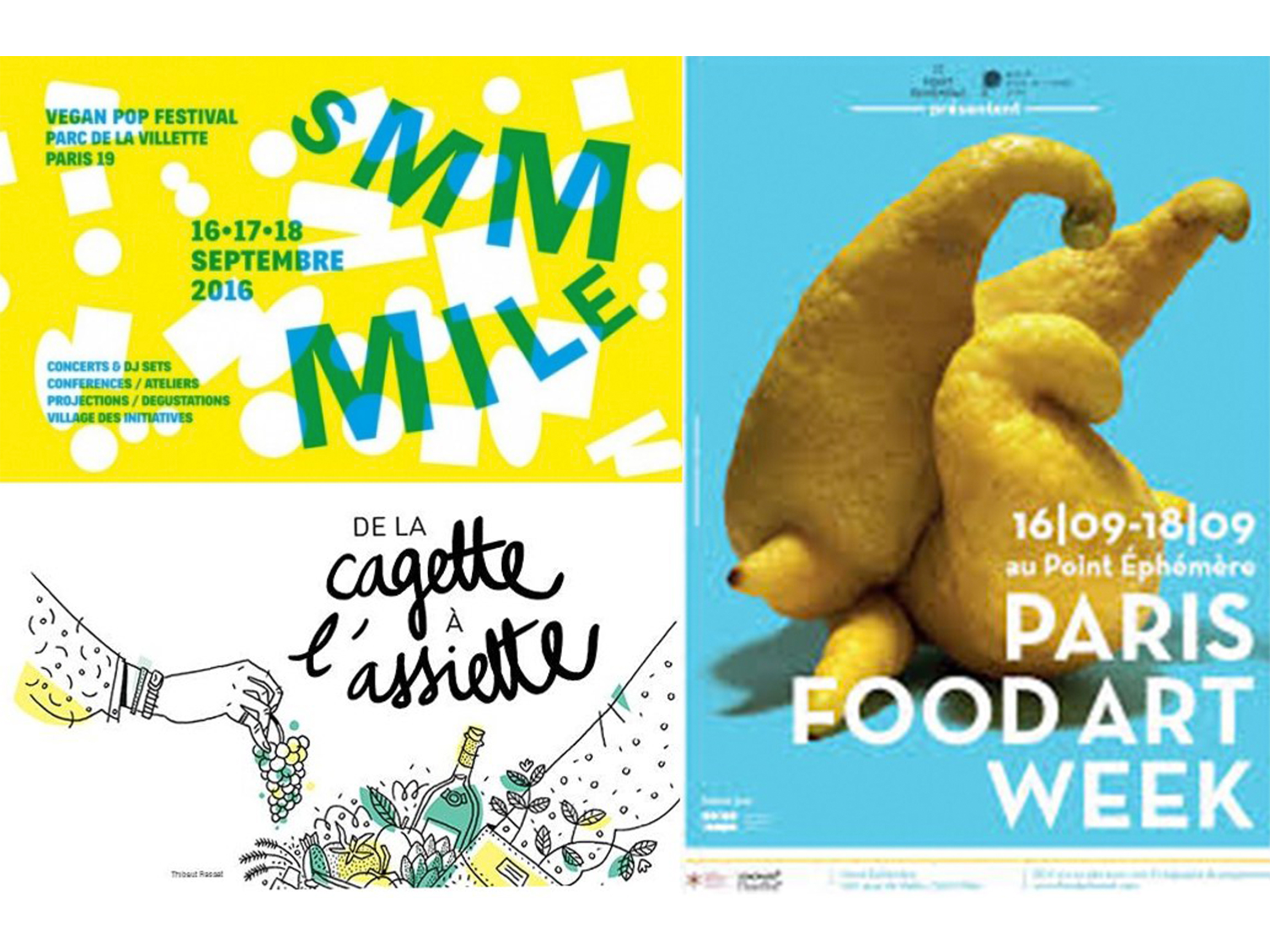 BAM; vegan pop festival; Smmile; de la cadette à l'assiette; paris food art week