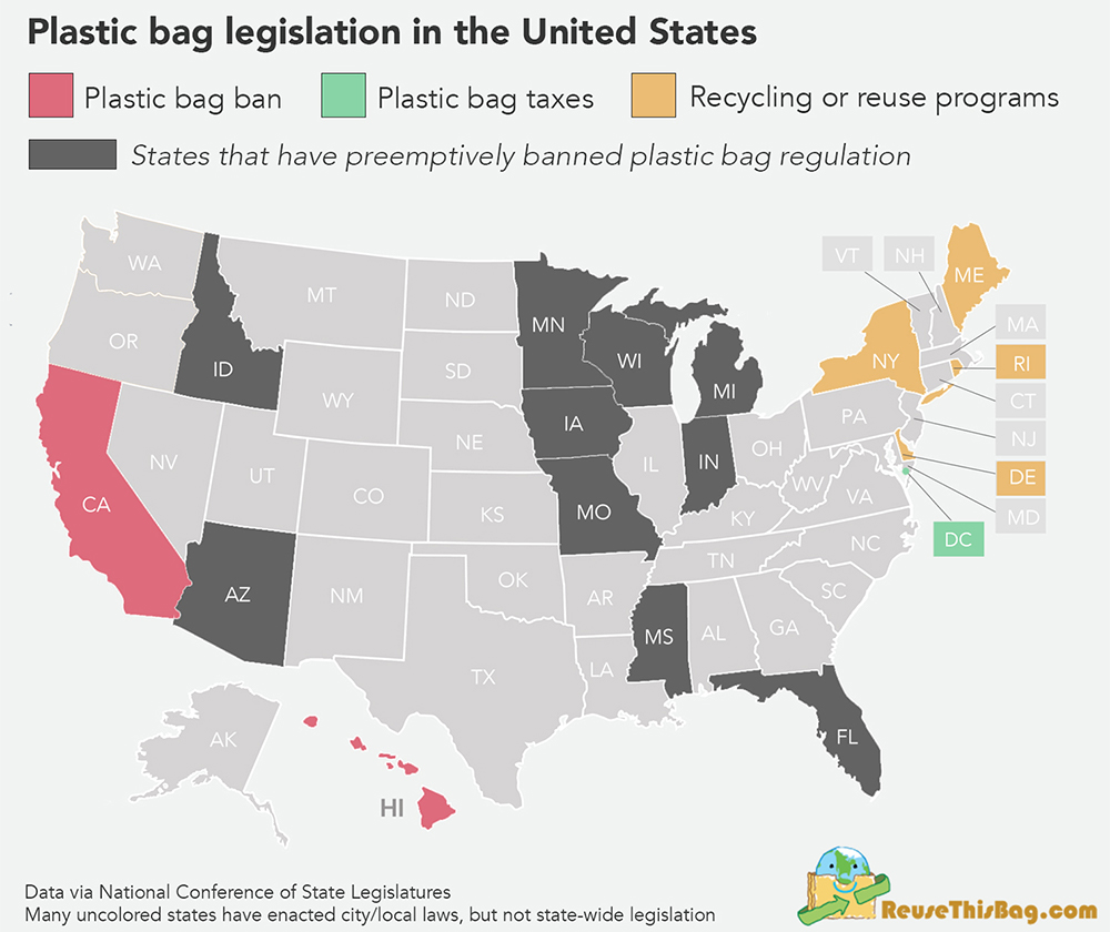 hight resolution of plastic bag regulation by state source