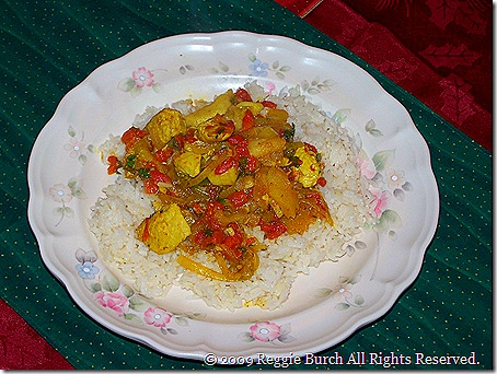 Curry Chicken with Apples & Rice