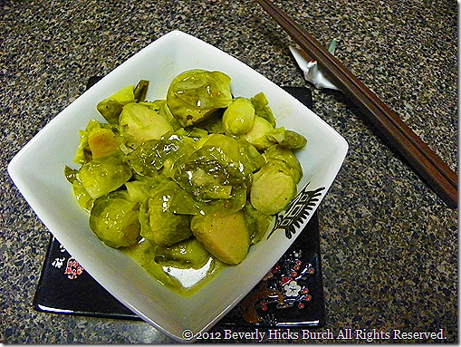 crock pot dijon maple brussel sprouts