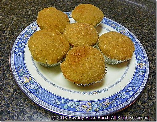 miniature applesauce muffins