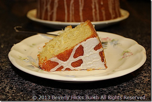 Coconut Pound Cake with Mexican Vanilla Glaze B