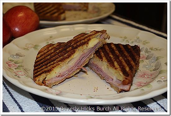 Applewood Smoked Ham Panini with Provolone and Gala Apple