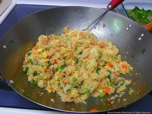 Bev's Stired Fried Rice with ham