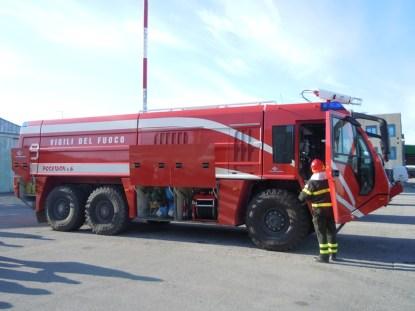 pompieri all'aeroporto