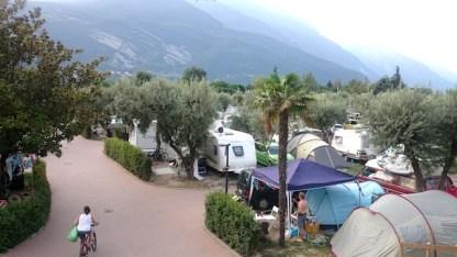 il camping visto dall'alto