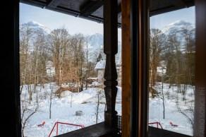 balcone ostello sulla neve