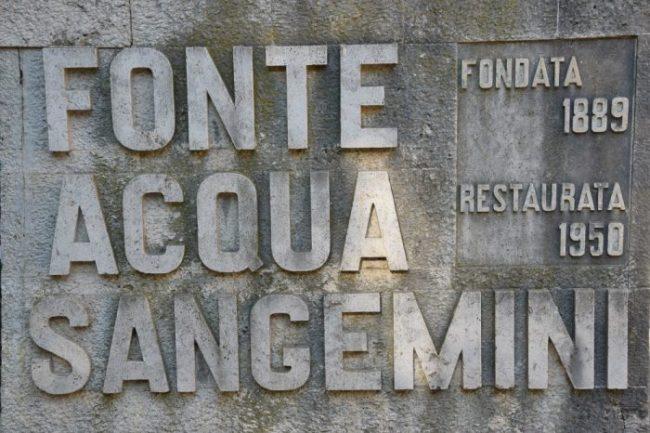 parco della fonte di San Gemini ingresso