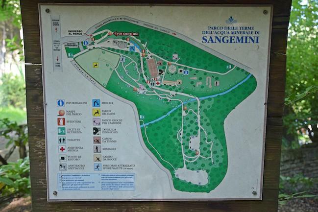 parco della fonte di San Gemini mappa