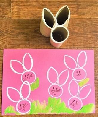 Lavoretti per Pasqua: riciclare i tubi di cartone
