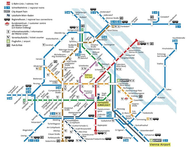 Visitare Vienna: mappa della metropolitana