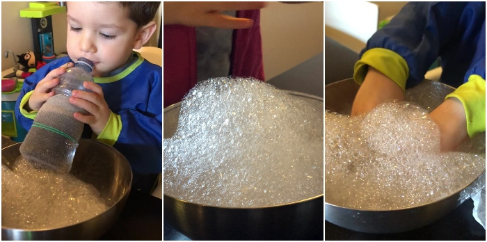 Bolle fatte in casa con materiali riciclati
