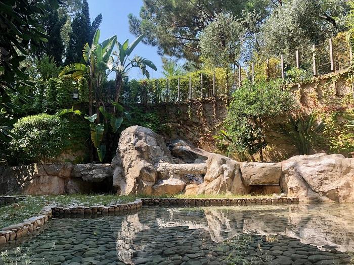 La fontana del Park Hotel Valle Clavia