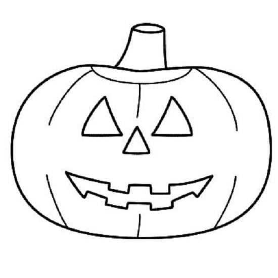 Zucca di Halloween, template da stampare e colorare