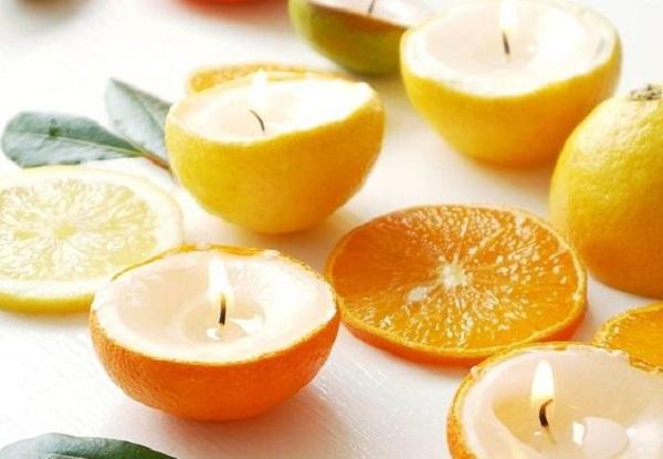 Utilizza arance e limoni per creare le tue candele
