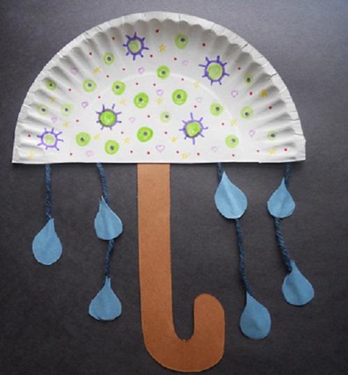Riciclare piatti di carta, ombrello