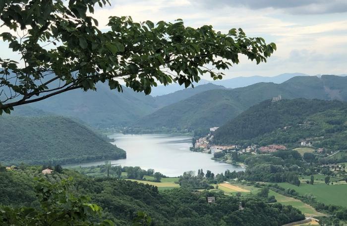 La vista sul Lago di Piediluco dal paese di Labro