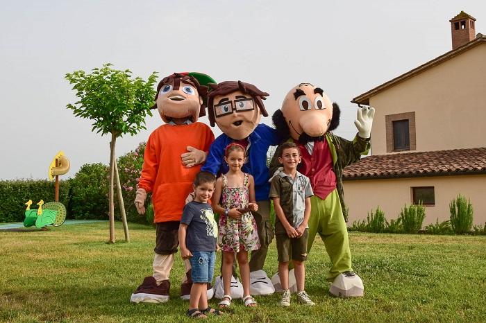 Le mascotte della fattoria didattica tellus a Montecchio (TR)