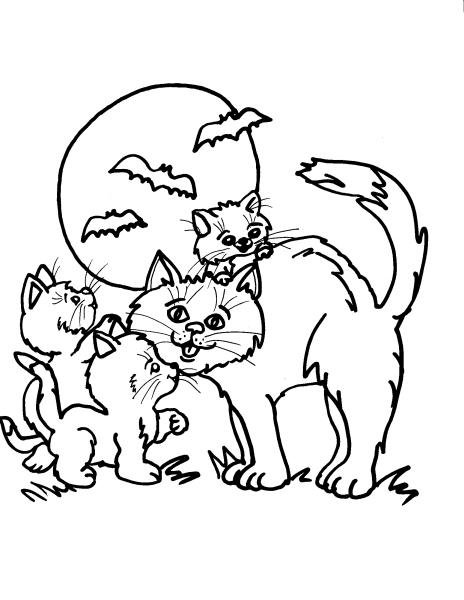 Disegno Gattino Da Colorare Per Bambinidisegno Gatto Da