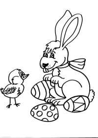 Conigli da colorare mondo bimbo for Lepre disegno da colorare