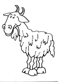 disegno capra della fattoria da colorare:capra,il capretto ...