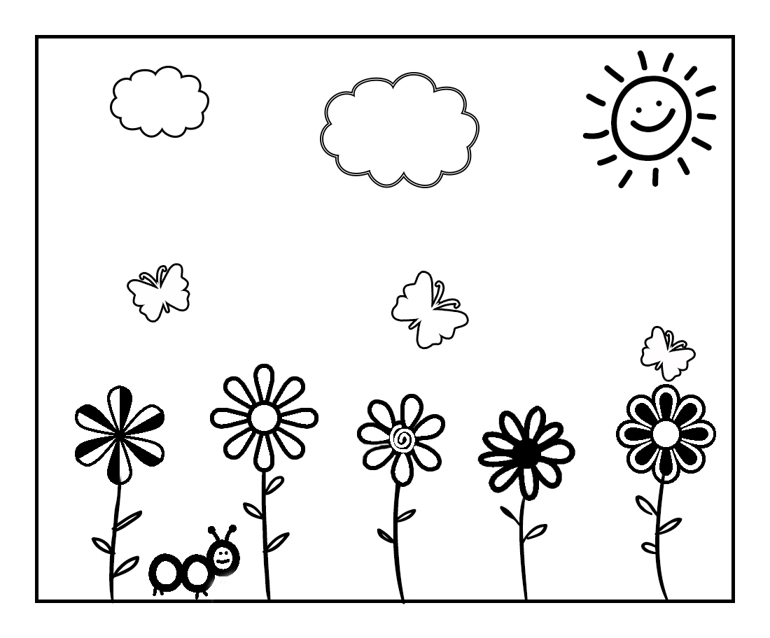 Color the Spring Away! Spring Coloring Page to Celebrate
