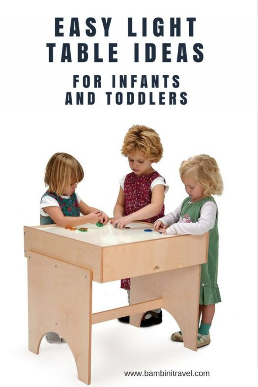 Easy Light Table Ideas for Infants and Toddlers