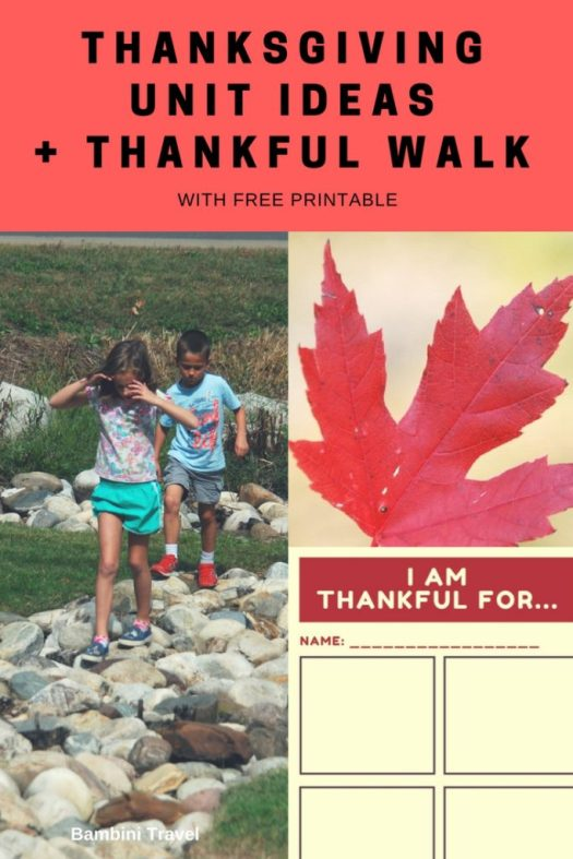 Thanksgiving Unit Ideas and Thankful Walk with Free Printable