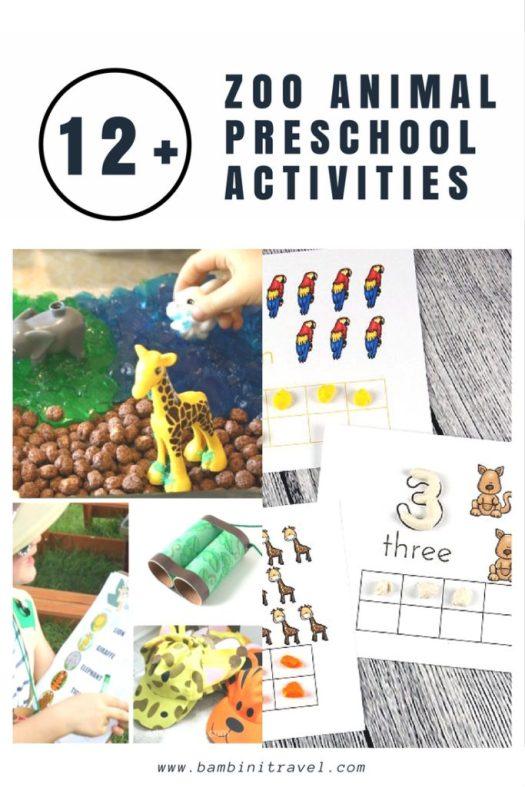 12+ Zoo Animal Activities for Preschoolers