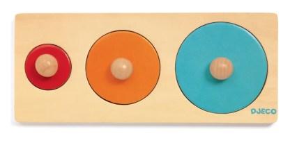 bigabasic round wooden puzzle by djeco