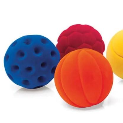rubbabu sputnik green pink and blue sports ball