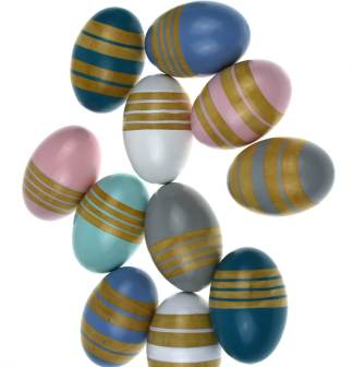 wooden egg shakers easter fun