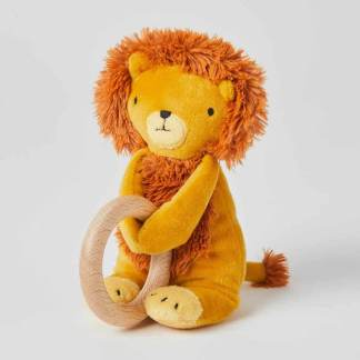edgar lion wooden teether
