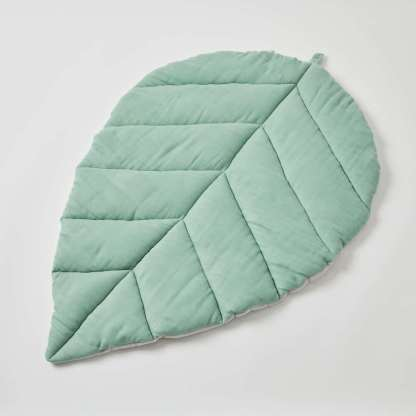 green leaf double muslin nordic kids with baby