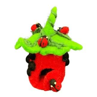tiny fairy ladybird house