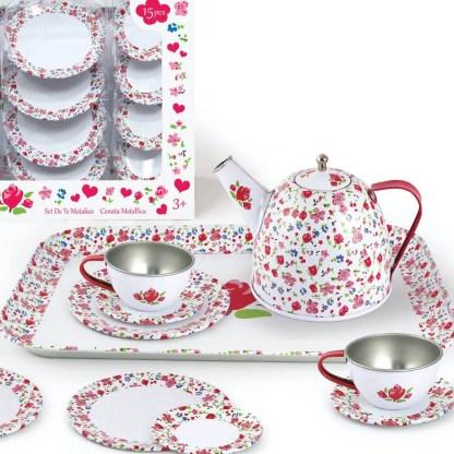 white flower s tea set lk