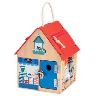 cute house with locks and zippers
