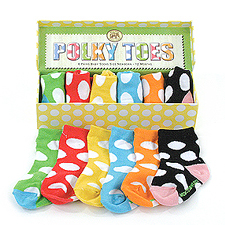 Polky and Posy Toes Socks