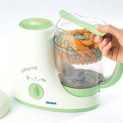 beaba babycook and blender in use
