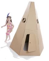 Tepee - Cardboard Playhouse