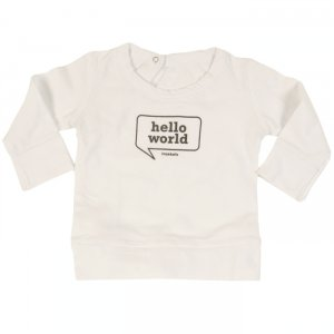 hello world sweatshirt by imps and elfs at little fashion gallery