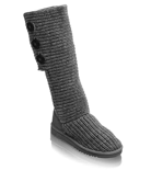 grey knitted ugg boot