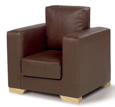 Childrens Faux Leather Armchair